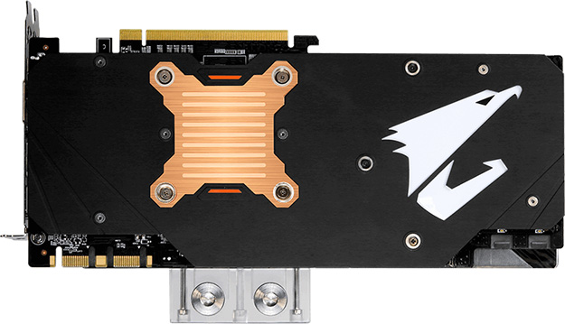 Gigabyte Aorus 1080 Ti Back Gigabyte releases Aorus GTX 1080Ti Waterforce Xtreme Edition 11G for the overclockers and professionals
