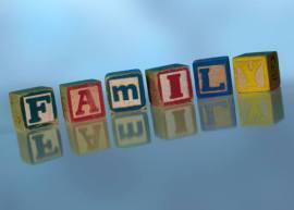 Blocks spelling FAMILY