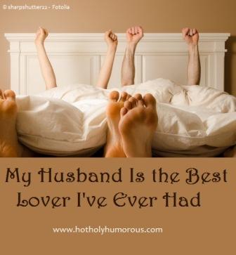 Couple celebrating in bedroom