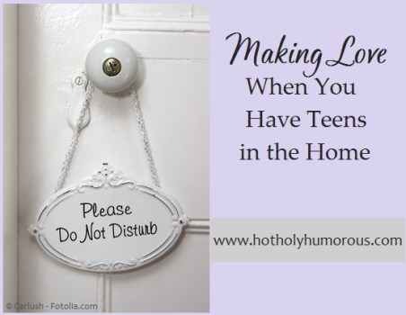 A Do No Disturb sign on a white door + blog post title
