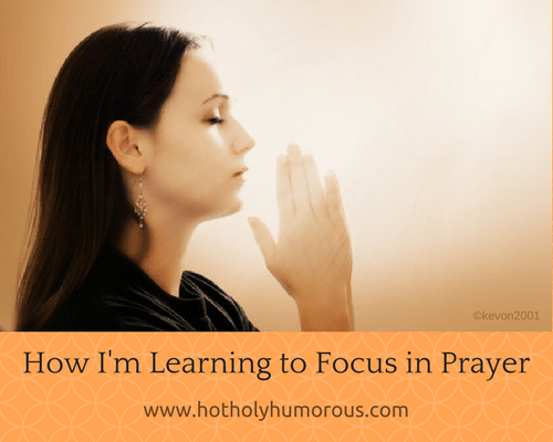 Blog post title + woman praying in sunlight