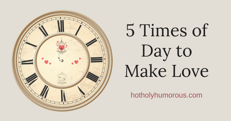 Blog post title + clock face themed with love birds in a cage