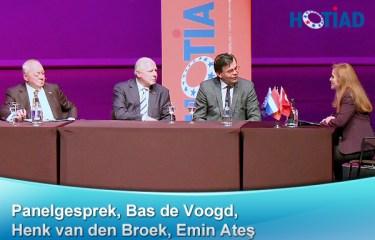 Panelgesprek, Bas de Voogd, Henk van den Broek, Emin Ateş