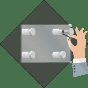Instrukcja montażu - mocowanie, tuleje dystansowe - krok 6 - przykręcanie śrub