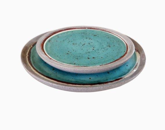 Talerz ceramiczny Blue Lagoon Clay