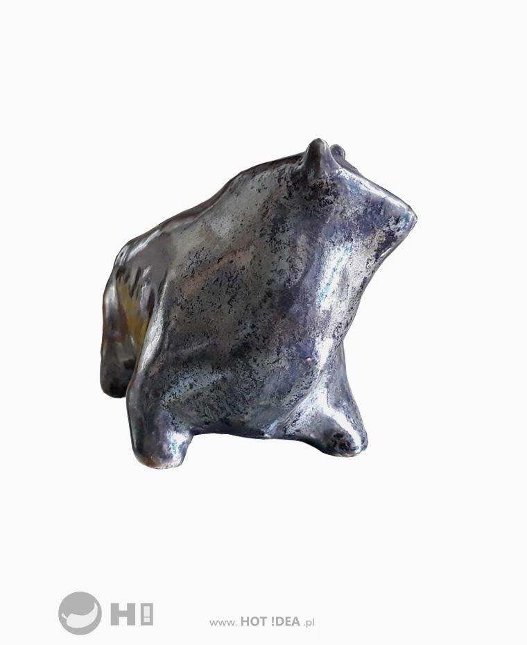 Ceramiczna rzeźba, figurka byka, statuetka dla hodowcy bydła. Giełda Byki.