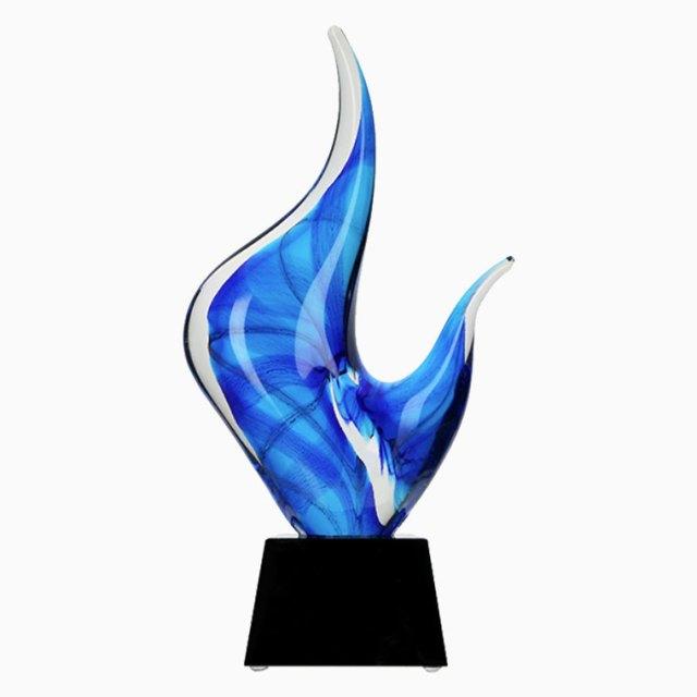 Statuetka szklana - dekoracja szklana GS-100-27, GS100-27, statuetka formowana hutniczo