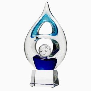 Statuetka szklana - dekoracja szklana GS116C, statuetka formowana hutniczo