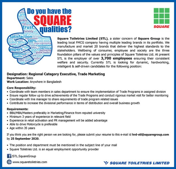 Square Group Job Circular 2020