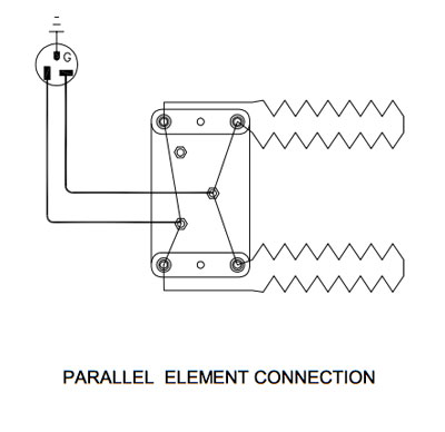 duncan kiln wiring diagram 1993 mazda b2200 what do i if the display is normal but won t heat up parallel element connection for a with two elements