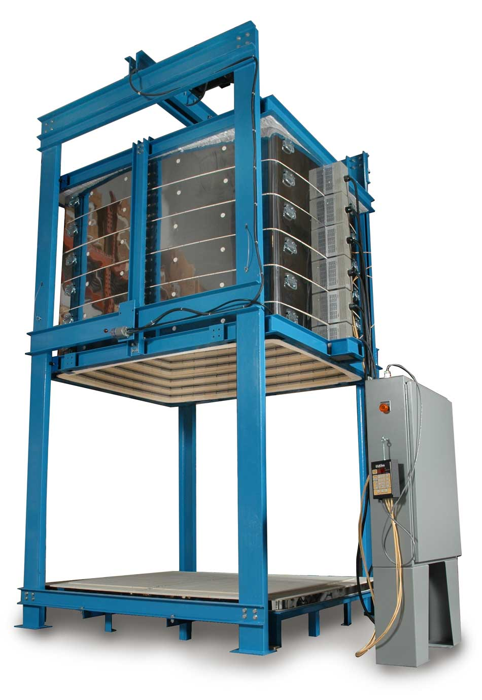 hight resolution of l l 100 cubic foot bell lift production kiln