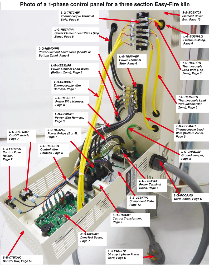 240v Wiring Diagram Switch Clamp To Hold On 50 Amp Power Cord L Amp L Electric Kilns