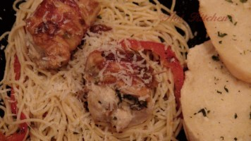 Hot Kitchen, Savory Chicken Roulades, Chili and Herb Spaghetti, Braised Endive Salad, Recipe Demonstration