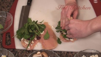 Hot Kitchen Lemon Chicken with Arugula Stuffing Recipe Demonstration