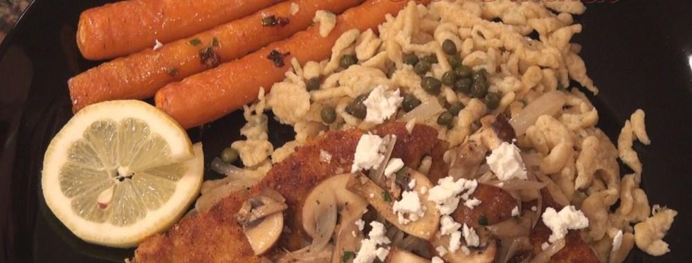 Hot Kitchen Chicken Schnitzle Recipe Demonstration