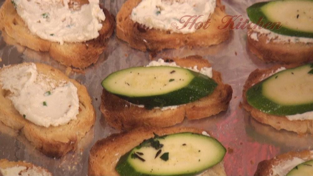 Hot Kitchen Bianca Zucchini Crostini Recipe Demonstration