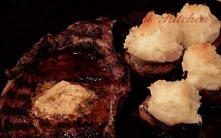 Hot Kitchen Coffee Rubbed Ribeye, Potato Stuffed Mushrooms Recipe Demonstration