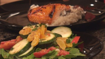 Hot Kitchen Orange Glazed Salmon, Zucchini Salad Recipe Demonstration