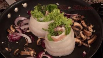 Hot Kitchen Sole Spirals Recipe Demonstration