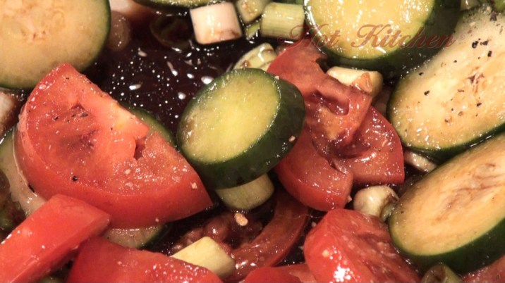 Hot Kitchen Cucumber-Tomato Salad Recipe Demonstration