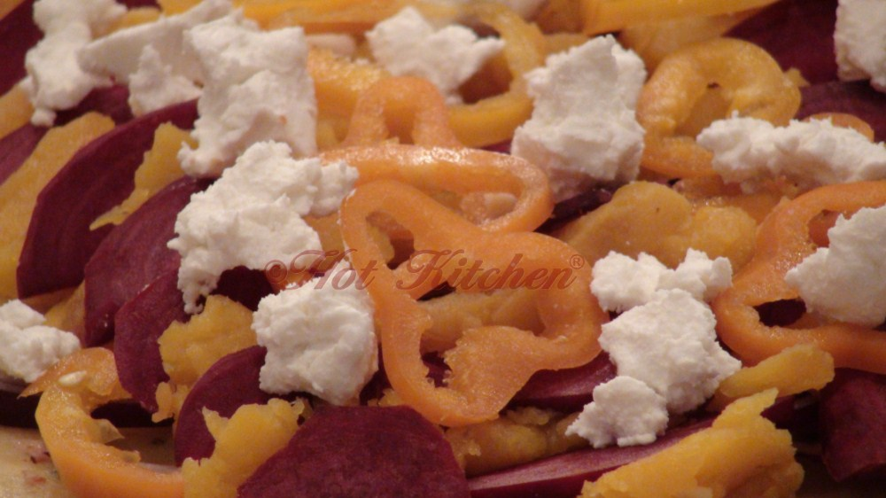 rustic beet, butternut, pepper, and chevre gallette tart recipe - hot kitchen - portland chef - cooking classes