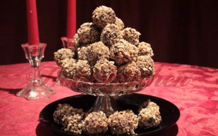 Peanut Butter Balls recipe - finished cookies plated nicely