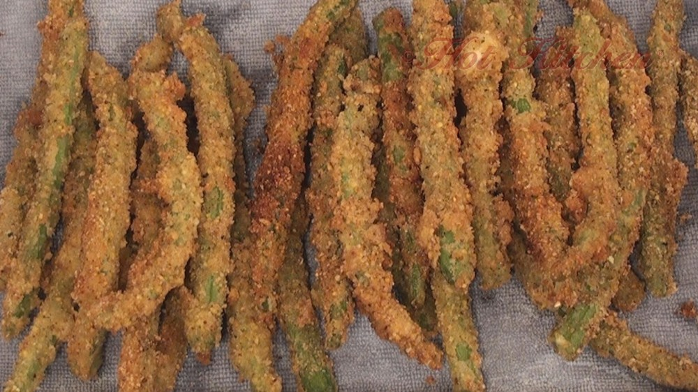 green bean fries recipes - Hot Kitchen Recipe Demonstration