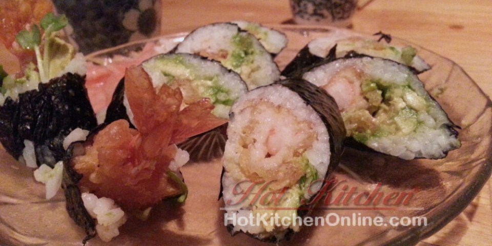 Tempura shrimp roll, sushi recipes