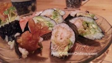 Tempura shrimp roll, sushi recipes