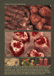 Date Night at Home: The Ultimate Cookbook for Two - Cover image for the menu featuring T-Bone for two, red velvet baby cakes, raspberry collins, coconut shrimp, and veggies