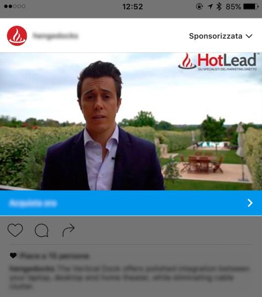 Esempio di Sponsorizzazione su Instagram