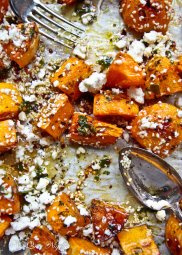 Roasted Pumpkin with Feta and Honey Salad