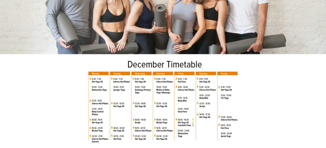 hot lotus december timetable