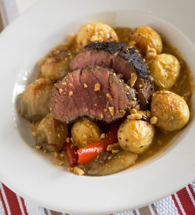 Chargrilled Eye Fillet of Beef with Massaman Curry Sauce
