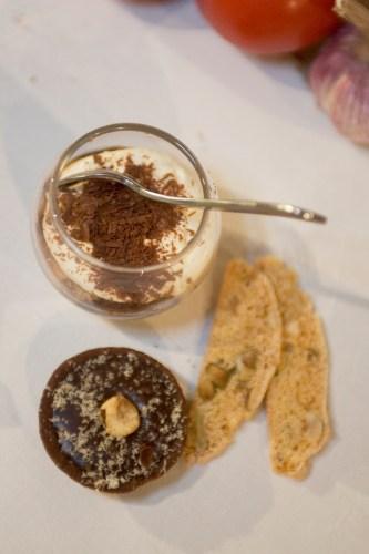 A trio of Italian desserts