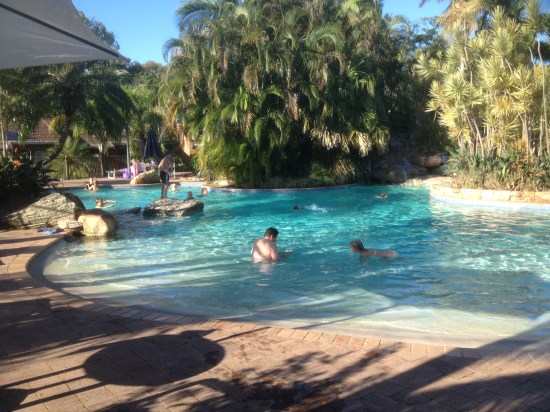 Part of the resort pool.