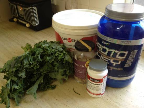 The diet of uni students - kale, protein and supplements
