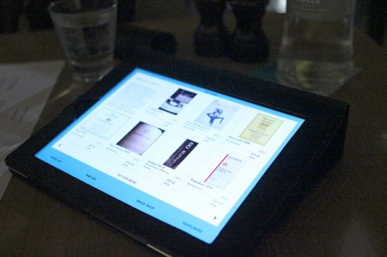 i-pads are brought to each table and left with you to select your wine