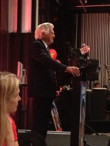 Bob Hawke delivering his speech