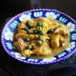Saffron Chicken with Preserved Lemons and Sicilian Olives