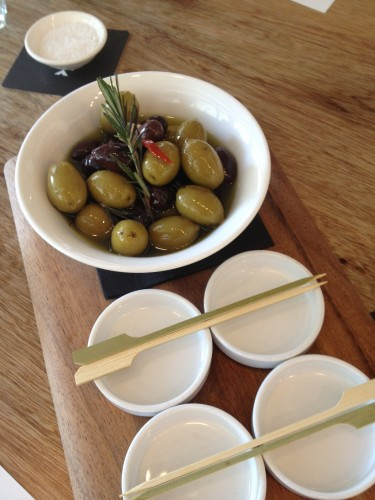 Marinated Mixed Olives:  $7.00