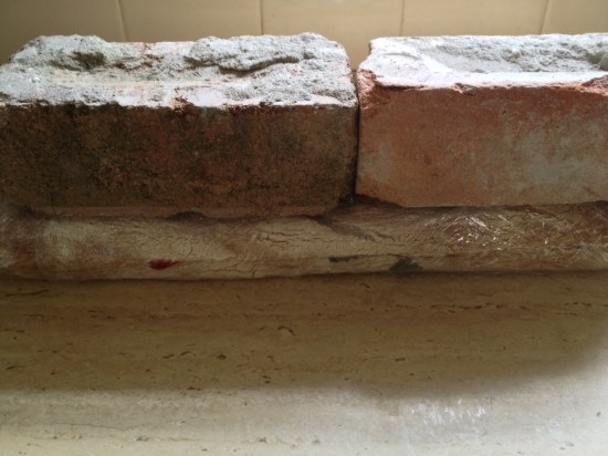 I was lucky to find a few spare bricks lingering around the house
