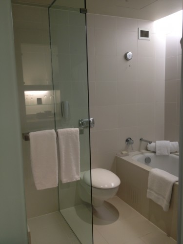 Bathroom with the separate shower