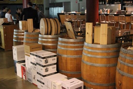 Lots of wine barrels