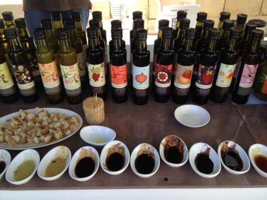 A selection of salad dressings