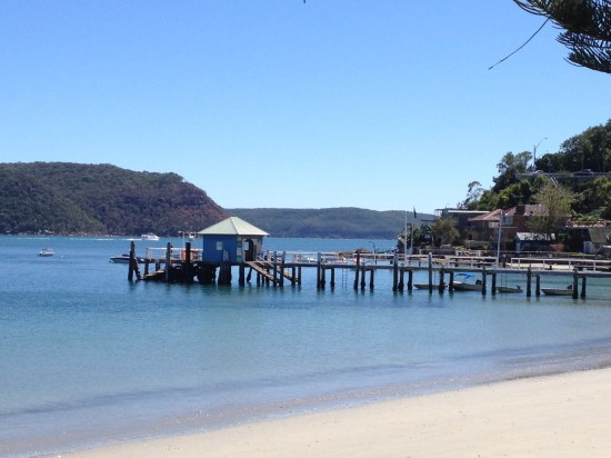 Palm Beach Wharf.  The ferry brings passengers from the Central Coast who often walk across the road to dine at Barrenjoey House