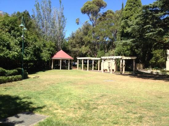 A part of the original backyard that's now a public park