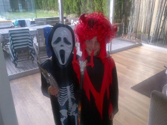 My two nephews and Alfie's 'partners in crime'