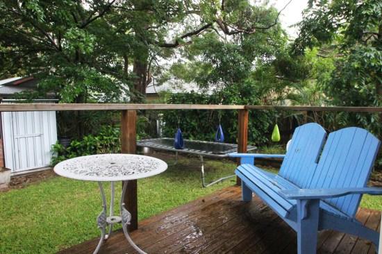 A private deck