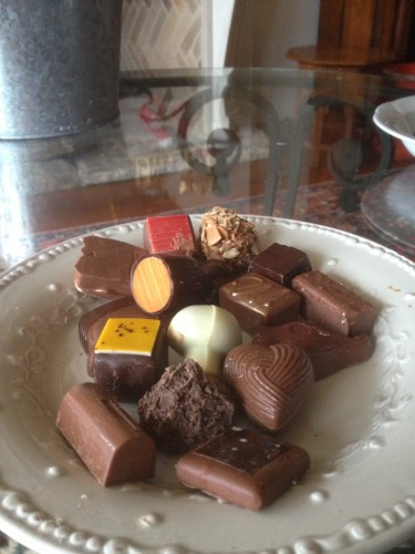 Of course, there's always room for chocolates...